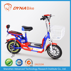 Promotional e-bike style 2015 colorful & ultra light electric motorized vehicles for sale with lead-acid battery