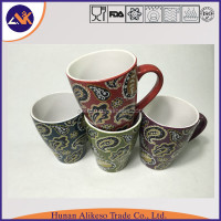 Widely used at home, hotel and restaurants stoneware ceramic coffee/tea/soup mug with handle from China factory