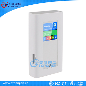 2017 Popular 5200mAh Power Bank Wifi Hotspot RJ45 4G LTE Wifi Router