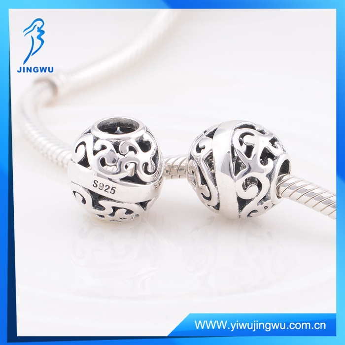 Wholesale 925 Sterling Silver Engravable Charms For European Bracelet
