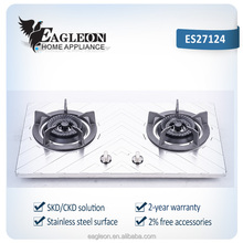 Hot sell in India market Smart Gas Stove with 2 brass Burner