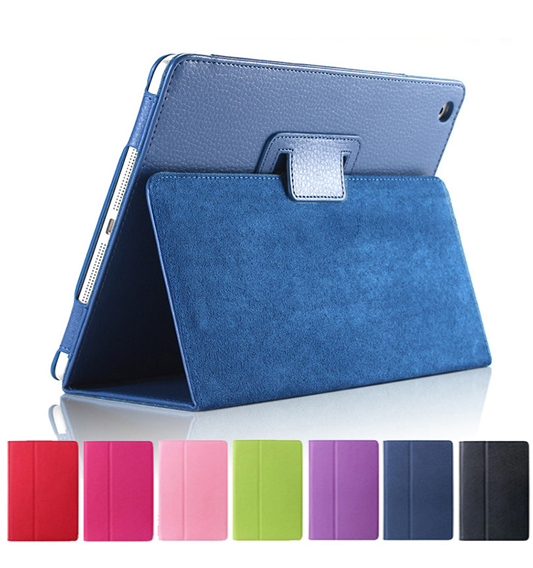 Matte Soft Flip Litchi PU Leather full Cover Smart Stand Auto Sleep /Wake UP Style For ipad Mini 1-2-3 ipad air air 2 ipad pro