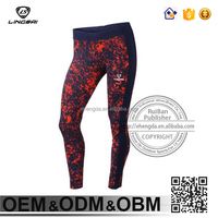 Custom Sexy Striped Comfortable Spandex Polyster Sports Pants Ladies