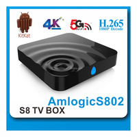 Strong Amlogic S812 Quad Core S8S m8s plus m8s android 5.1 smart tv box 2.4G+5G Dual band wifi