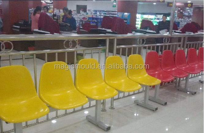 hot sale Plastic Office Meeting/Visitor Chair mould/Trade assurance Best Quality Plastic waiting room chairs mold factory