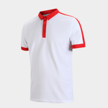 Wholesale china popular different color collar polo shirt men