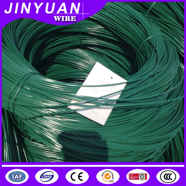 China hot slae pvc coated galvanized inner black annealed iron wire with different color for mesh or agriculture