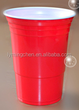 high quality 16oz ps Red disposable plastic Party Cups Let's party!