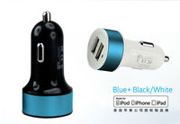 New car charger dual 3.1A usb smart various color with CE.FCC,ROHS,MFi