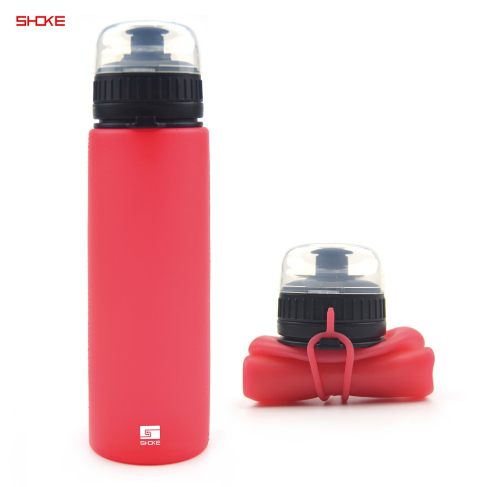 Hot Selling Silicon Collapsible Sports Drink Bottles