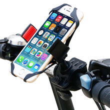 Universal Bike Cell Phone Mount Phone Holder; Bicycle Rack Handlebar Mobile Phone Holder Cradle for iPhone Samsung