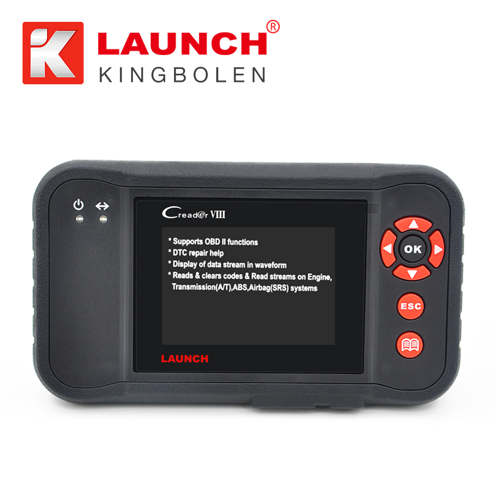 100% Original Launch Creader VIII Code Reader Same Creader 8 ENG/AT/ABS/SRS EPB SAS Oil Service Light resets