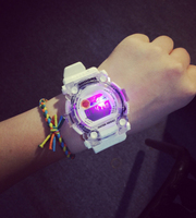 SHHORS LCD Waterproof Fashion Colorful Crystal Case Digital Wrist Watch