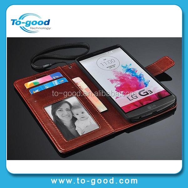 100% Brand New Leather Wallet Bag Mobile Phone Case Flip Cover For LG P990 With Credit Card Holder,Case Cell Phone For LG P990