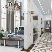 China new pattern decorate corridor italian deluxe marble inlay flooring design