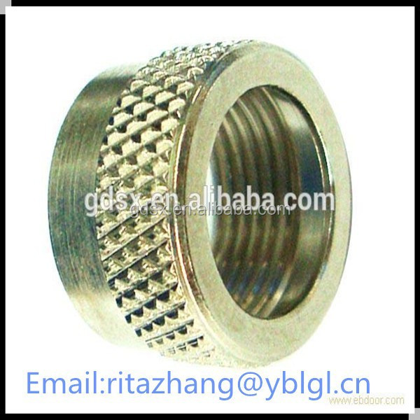 2014 hot sale yellow zinc plated carbon steel diamond knurl bolt nut,hollow bolt OEM in china