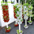 Industrial stacked hydroponic plants pots system outdoor