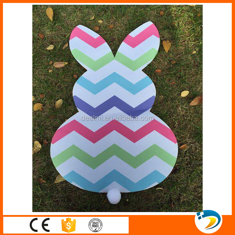 Wholesale Monogrammed Chevron Bow Bunny Flag