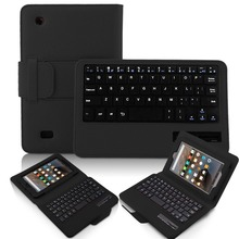 For kindle Fire 7 2015 Keyboard, Stand PU Leather Case Cover With Removable Bluetooth Keyboard For Amazon Kindle Fire 7 inch