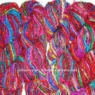 Super soft Recycled sari silk yarn