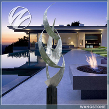 Famous artist stainless steel abstract sculpture for sale