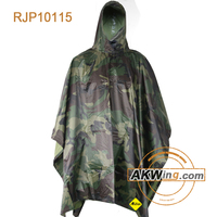 Budk Swiss Military Alpenflage Camouflage Wet Weather Rain Poncho