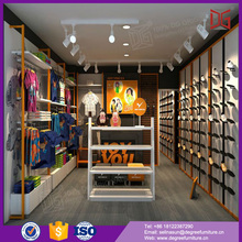 high end wooden shoes shop decoration design for display cabinet table
