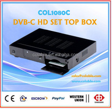 hd digital tv receiver stb ,dvb-c set top box ,hd 1080p full hd tv box COL1080C