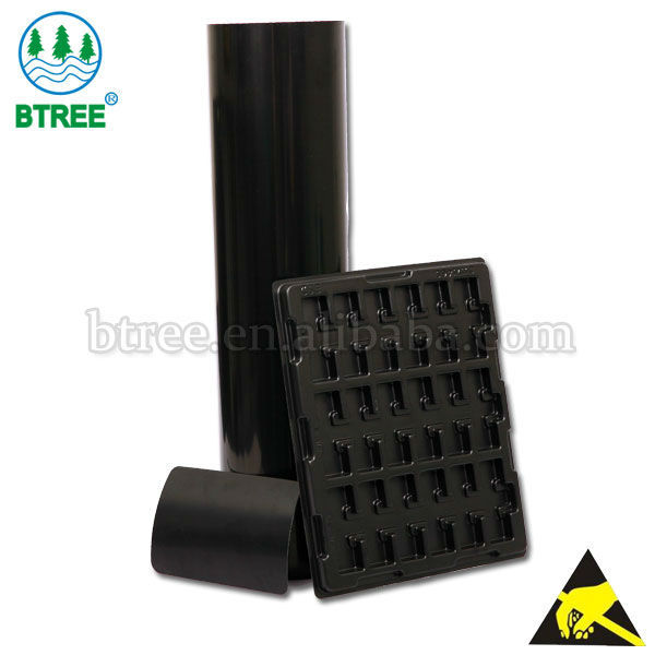 Btree Rolls of Black Plastic For Thermoforming