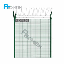 AEOMESHfactory iron fence panels/metal fence posts/galvanized high security steel fence