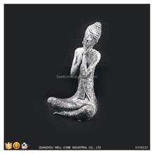 Silver Foil Coating Sleeping Buddha Statue