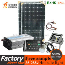 tin roof mount commercial off grid tie 500W solar energy system for home