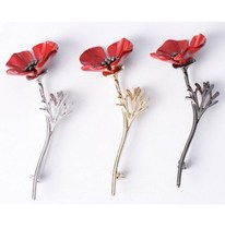 Wholesale Wedding Jewelry Poppy Flower Vintage Brooch