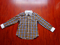 2016 new fashion wholesale plaid shirt with long for children