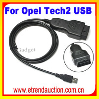For OPEL Tech2 Tech USB Car Diagnostic OBD 2 OBD2 Cable For OPEL Tech2 USB OBD2 Interface