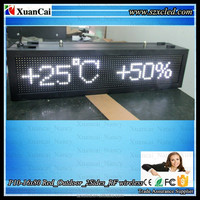 Text,time,date, temperature, image Outdoor 2sides P10 Single White wireless RF/WIFI LED message sign board display