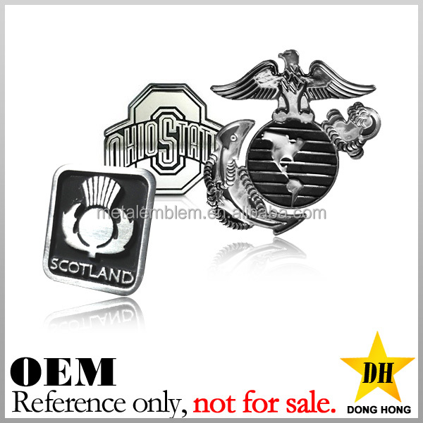 China supplier cheap sticker custom metal motorcycle emblem badge