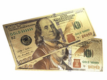 World Paper Money Collection 100 Dollars Banknotes USA Dollars Gold Foil Bill Currency Fake Money For Christmas Gift