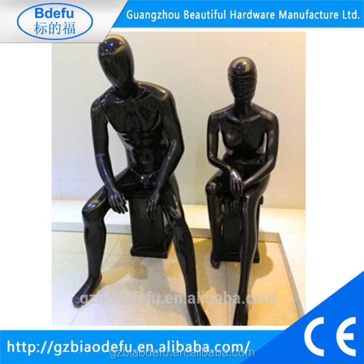 plastic black female and male full body mannequin