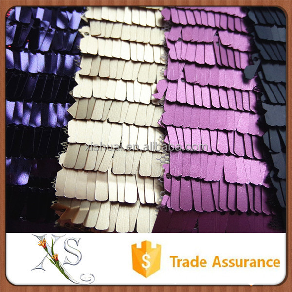 10mm Rectangle Sequin Fabric Mesh Decorative Fabric