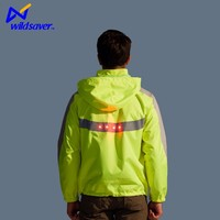 LED unique motorcycle hiking skiing reflective jackets women 2016