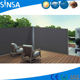 Corner Patio Retractable Double Privacy Wall Side Awning with Steel Support Pole