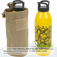 2017 600D Polyester Fabric Military Mini Fold Water Bottle Pouch