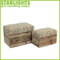 Good quality new design antique rectangle ottoman