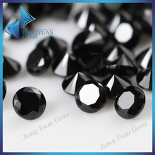 European machine cut charming black gemstone synthetic spinel