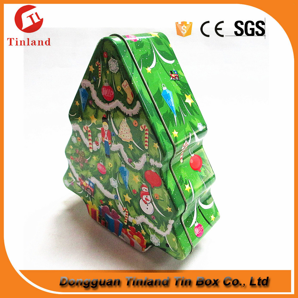 Tree Shape Toy Tin Box For Chidren