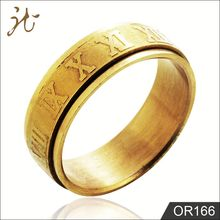 Nice Jewelry 18K Gold Roman numerals Ring