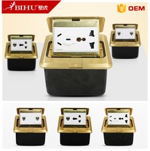 brass high quality universal electrical floor sockets outlet box