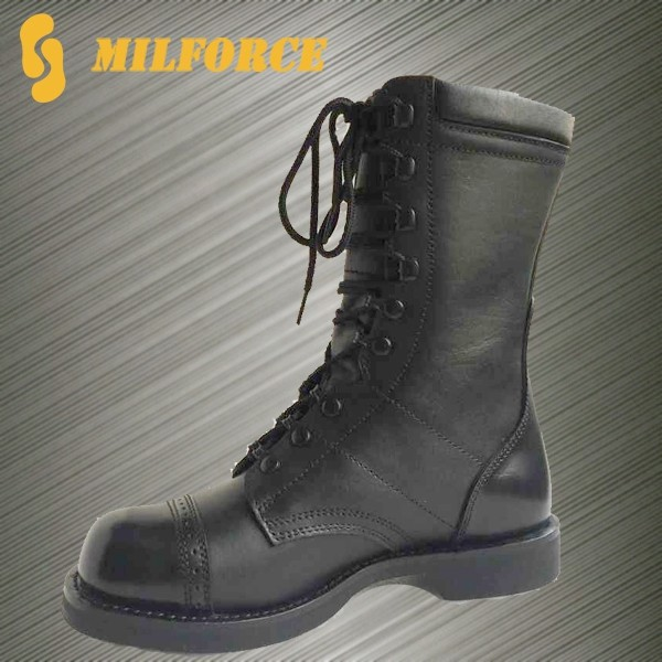 high quality police uniform shoes ranger boot cheap black army boot