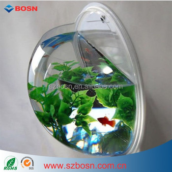 Wall mount fish bowl acrylic aquarium tank beta goldfish - Wall mounted fish aquarium ...